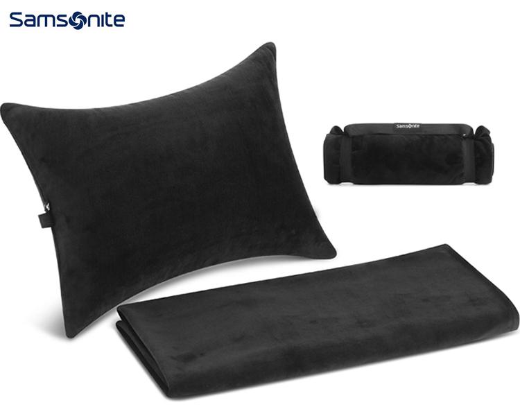 新秀丽 可折叠盖毯&充气腰枕*1